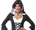 Deluxe Hooded Robe Adult Costume Black & White