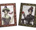 Vintage Halloween Gothic Artwork (Set of 2)