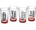 Halloween Scary Shot Glasses (set of 4)
