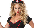 Cardiac Arrest Goth Nurse Costume