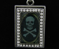 Image Pendant Necklace -  Antique Skull with Swarovski Crystals