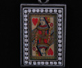 Image Pendant Necklace -  Queen of Hearts with Swarovski Crystal