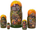 Frost on the Pumpkin Matryoshka (Russian Nesting Doll) 5-pieces