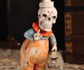 Calendar Skeleton Clown Figurine