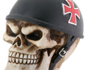 Biker Skull Iron Cross Helmet Car Shifter Knob
