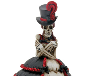 Steampunk Skeleton Girl Figurine