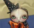 Witch Girl Halloween Bell Ornament