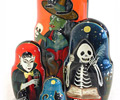 Halloween Matryoshka (Russian Nesting Doll) 5-Pieces 6""