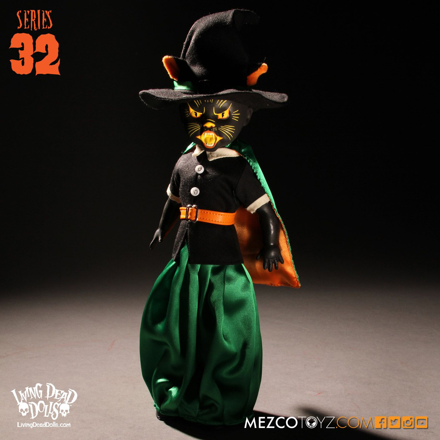 Living Dead Dolls Series 32 Black Cat Witch 93380 BCW