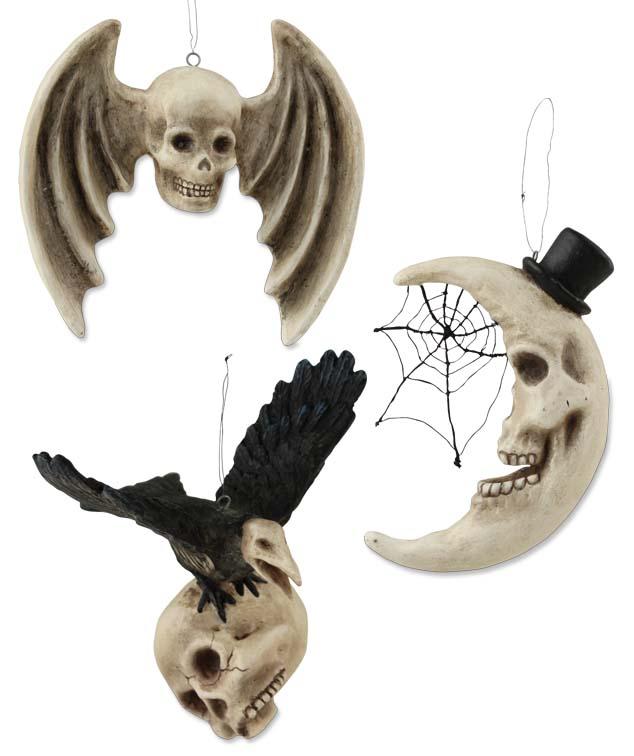 Sam Moon Home Decor: Haunted Skeleton Moon Ornament