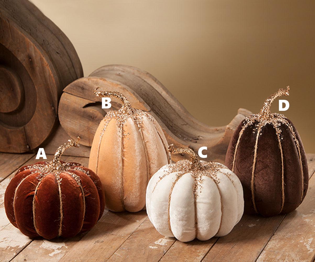 Elegant Fall Velvet Pumpkins House Of Aberrant